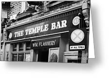 The Temple Bar Pub In Temple Bar Tourist Nightlife Area In Central Dublin Greeting Card