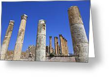 The Temple Of Artemis At Jerash Jordan Greeting Card