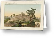 The Temple Of Buddha Of Borobudur In Java Greeting Card