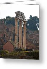 The Temple Of Castor And Pollux Greeting Card