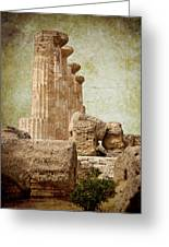 The Temple Of Heracles Greeting Card