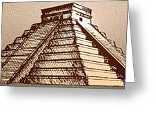The Temple Of Kukulcan Chichen Itza   Greeting Card