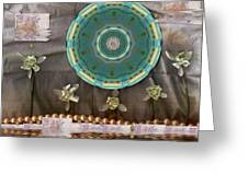 The Temple Of Mammon Greeting Card