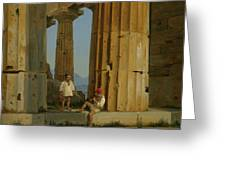 The Temple Of Poseidon. Paestum Greeting Card
