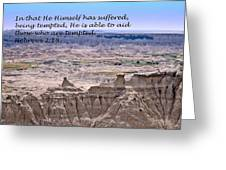 The Temptation Of Jesus Hebrews 2 18 Greeting Card