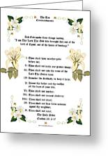 The Ten Commandments Greeting Card by Anne Norskog