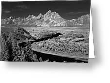 309217-the Teton Range From Snake River Overlook Greeting Card
