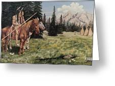 The Tetons Early Tribes Greeting Card