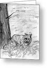 The Teutonic Fox Greeting Card