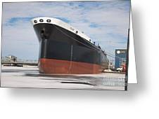 The Texas Cargo Ship Greeting Card