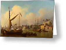 The Thames And Tower Of London On The King's Birthday Greeting Card