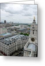 The Thames From St Paul's Greeting Card