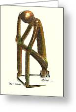 The Thinker  Number 11 Greeting Card