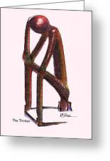 The Thinker   Number 17 Greeting Card