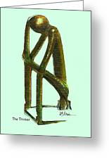 The Thinker  Number 2 Greeting Card