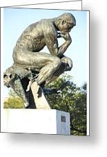 The Thinker Cleveland Art Statue Greeting Card