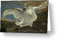The Threatened Swan, Jan Asselijn Greeting Card