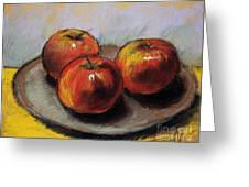 The Three Apples Greeting Card