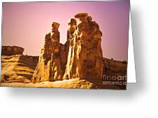 The Three Gossips In The Light Greeting Card