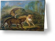 The Three Leopards Greeting Card