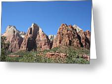 The Three Patriarchs - Zion Park Np Greeting Card