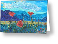 The Three Poppies Greeting Card
