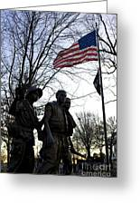The Three Soldiers - Vietnam War Memorial Greeting Card