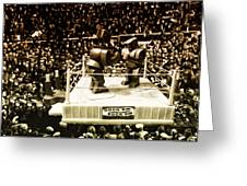 The Thrilla In Toyvilla Greeting Card by Bill Cannon