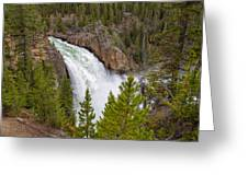 The Thundering Lower Yellowstone Falls Greeting Card