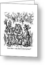 The tin man talks to the cowardly lion greeting card for sale by lee the tin man talks to the cowardly lion greeting card m4hsunfo