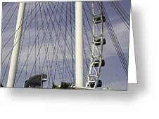 The Top Section Of The Marina Bay Sands As Seen Through The Spokes Of The Singapore Flyer Greeting Card