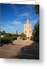 The Torre Del Oro, Gold Tower, Military Greeting Card