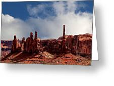 The Totems Monument Valley Greeting Card