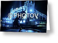 The Tower Bridge At Night  -  Limited Edition Greeting Card