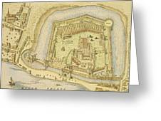 The Tower Of London, From A Survey Made Greeting Card