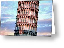 The Tower Of Pisa Greeting Card