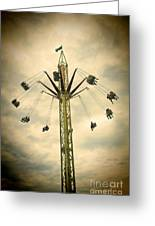 The Tower Swing Ride 2 Greeting Card