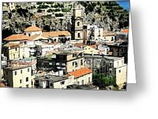 The Town Of Minori Greeting Card by H Hoffman