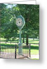 The Town's Clock Greeting Card