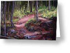 The Trail Series - Sunlight In The Wood Greeting Card