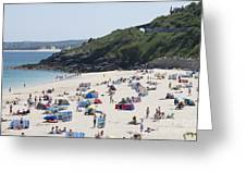 The Train Line Porthminster Greeting Card