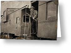 The Train Robber Greeting Card