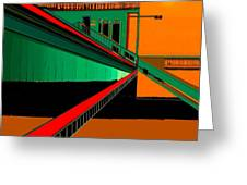 The Train Station  Number 9 Greeting Card
