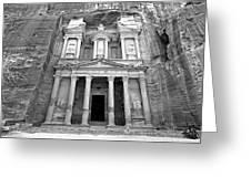 The Treasury At Petra Greeting Card