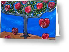 The Tree Of Life Greeting Card by Sandra Marie Adams