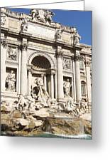 The Trevi Fountain - Rome - Italy Greeting Card