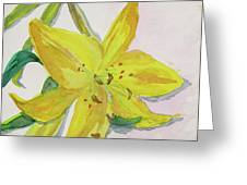 The Trickiness Of Yellow Greeting Card