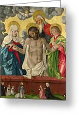 The Trinity And Mystic Pieta Greeting Card
