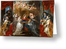 The Triptych Of Saint Ildefonso Altar Greeting Card