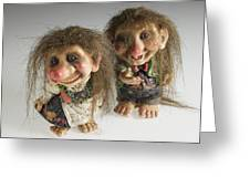 The Trolls Of Norway Greeting Card